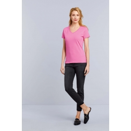 GI4100VL - Premium Cotton Ladies' V-neck T-shirt