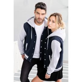 K4003 - College jacket met capuchon unisex