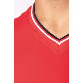 KARIBAN K374 - Heren-t-shirt piqué V-hals