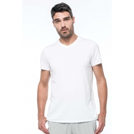 KARIBAN K3002 - Heren-t-shirt Supima® V-hals korte mouwen