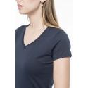 KARIBAN K3003 - Dames-t-shirt Supima® V-hals korte mouwen