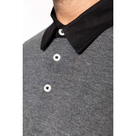 K260 - Tweekleurige herenpolo jersey