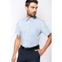 K543 - Heren poplin overhemd korte mouwen
