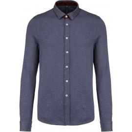 KARIBAN 507 - Jacquard overhemd lange mouwen