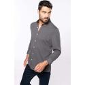 K507 - Jacquard overhemd lange mouwen