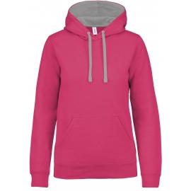 Damessweater met capuchon in contrasterende kleur KARIBAN