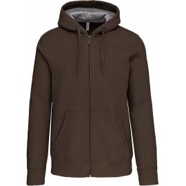 Hooded sweater met rits KARIBAN 360 gr lekker warm