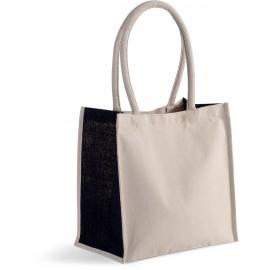 KI0255  Shopper van katoen/jute - 17 L