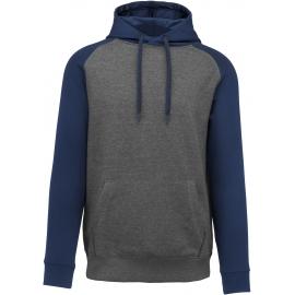 PA369 - Tweekleurige sweater met capuchon volwassene