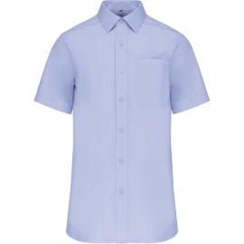 Kariban  - Heren poplin overhemd korte mouwen tot 6L
