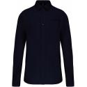 Kariban Heren poplin overhemd lange mouwen tot 6L