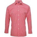 PREMIER Men's long sleeve microcheck gingham shirt