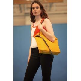 KI0287 - Handtas met lederen schouderriem