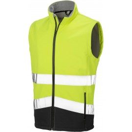 R451X - HIGH-VIZ SOFTSHELL JACKET geel