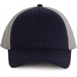 KP167 - Pet Snapback black - grey melange