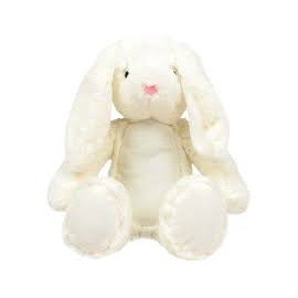 MM060 - Knuffel print me white bunny 34cm