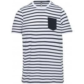 K379 - Gestreept T-shirt navy