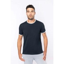 K373 - Heren-t-shirt piqué ronde hals navy