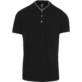 K223- Polo maokraag black-oxford grey