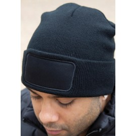 RC034X - Bedrukbare muts in dubbel tricot Thinsulate™ zwart