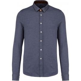 K507 - Jacquard overhemd dark grey