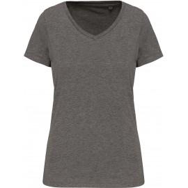 K3003 - Dames-t-shirt Supima® V zwart