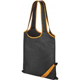 "R002X - Shopper ""compact"" zwart-oranje"