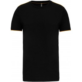 K3020 - T-shirt DayToDay black*yellow