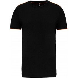K3020 - T-shirt DayToDay black*orange