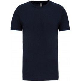 K3020 - T-shirt DayToDay  navy*royal blue