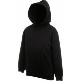 SC62043 - Kids Classic Hooded Sweat (62-043-0) FRUIT OF THE LOOM zwart