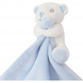 MM700 - Plat knuffeldoekje dier blauw