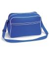 BG14 - Retro Shoulder Bag zwart fuchsia