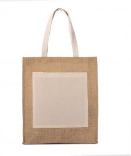 KI0221 Jute shopper cappucino