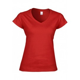 GI64V00L - Softstyle® Fitted Ladies' V-Neck  wit