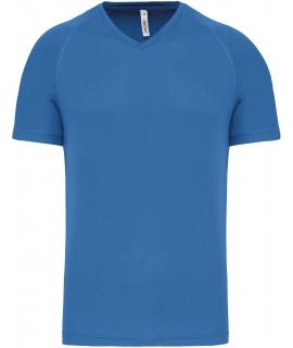 PA476 V hals aqua blue