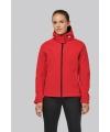 K414 - Dames Afneembare hooded softshell  rood