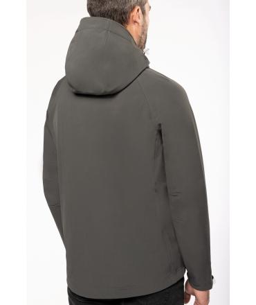 K413  Afneembare hooded softshell zwart maten M en XXL vanaf 30 mei 2021