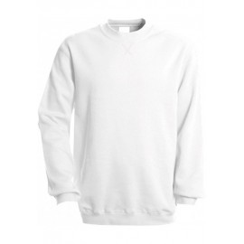 K442 - SWEATER MET RONDE HALS KARIBAN wit