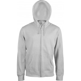 K454 - Hooded sweater met rits KARIBAN wit