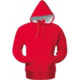 K444 - Hooded sweater met rits KARIBAN wit