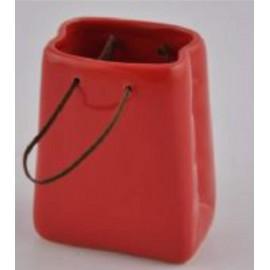 Draagtas rood dolomite 10,3*6*8,5 cm