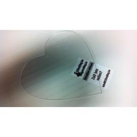 Acryl hartje transparant hangend 20 cm