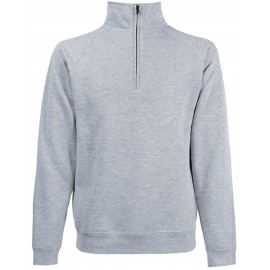 SC165 - Premium Zip Neck heather grey