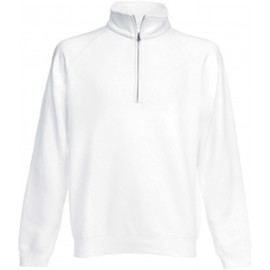 SC165 - Premium Zip Neck white