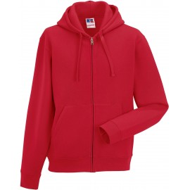 RU266M - Zip Hooded classic red