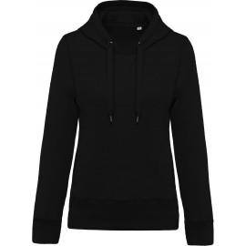 K483 - Damessweater met capuchon BIO zwart