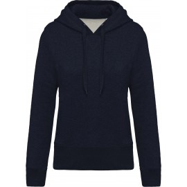 K483 - Damessweater met capuchon BIO french navy heather