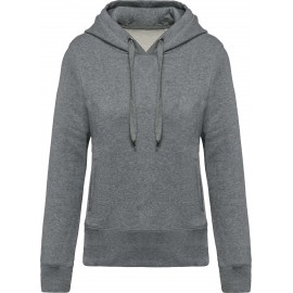 K483 - Damessweater met capuchon BIO grey heather