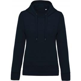K483 - Damessweater met capuchon BIO navy
